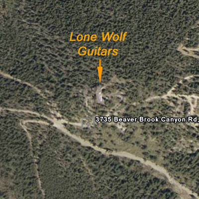 Areal photo of Lone Wolf Guitars.